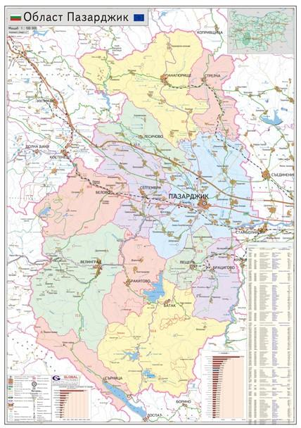 Karta Na Oblast Pazardzhik