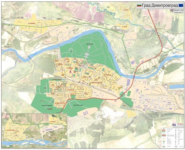 Karta Na Dimitrovgrad